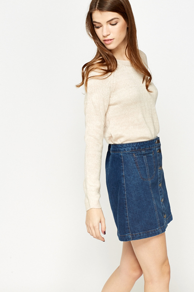 Plain Knitted Basic Jumper