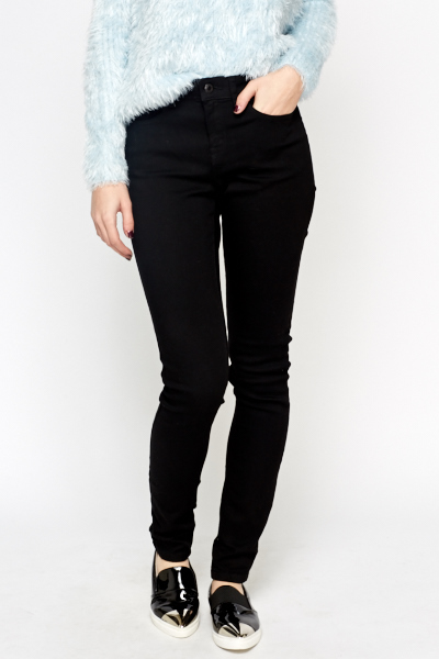 Womens Black Skinny Fit Jeans