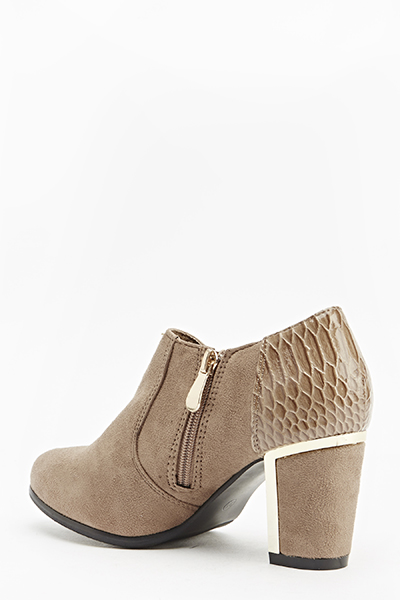 Ankle Bock Heeled Boots