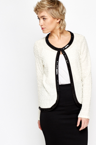 Bobble Knit Round Neck Cardigan