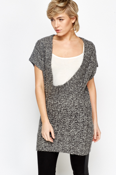Plunge Short Sleeve Jumper