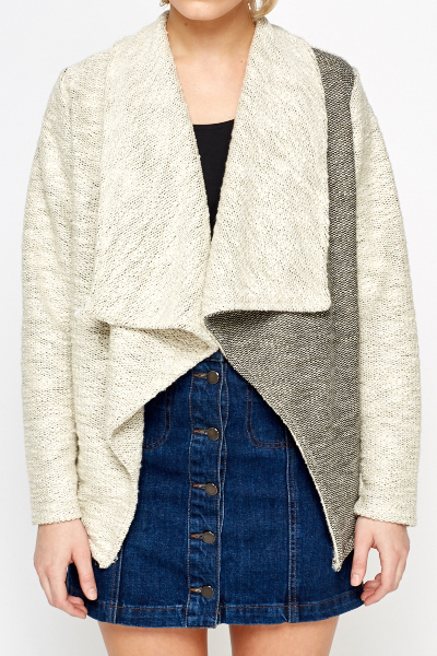 Waterfall Knitted Contrast Jacket
