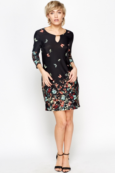 Butterfly Border Tunic Dress