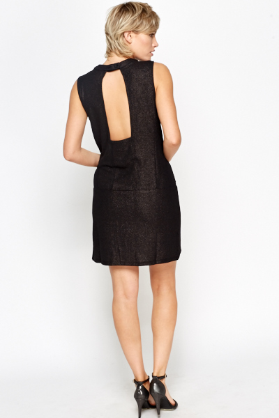 Cut Out Back Shift Dress