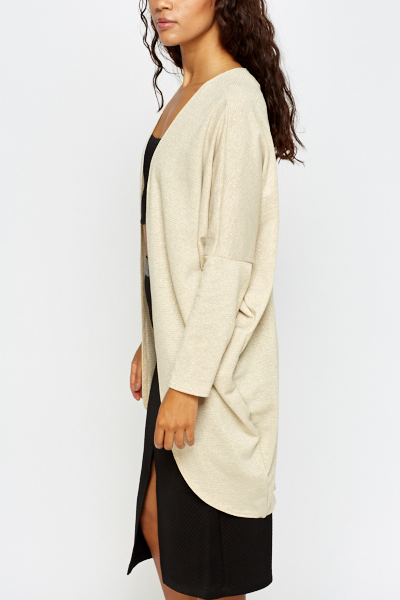 Gold Metallic Oversize Cardigan