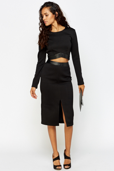 High Waisted Pencil Skirt