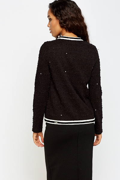 Mono Bobble Knit Cardigan