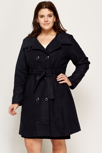 Short Button Up Trench Coat