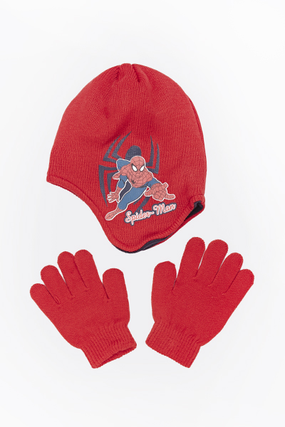 Spiderman Hat And Gloves Set