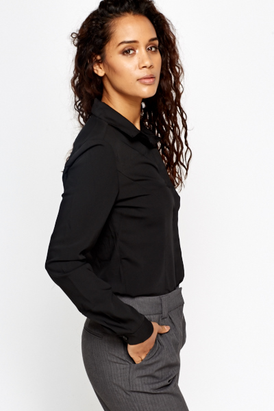 Formal Black Shirt