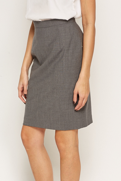 Grey Formal Skirt - Just £5