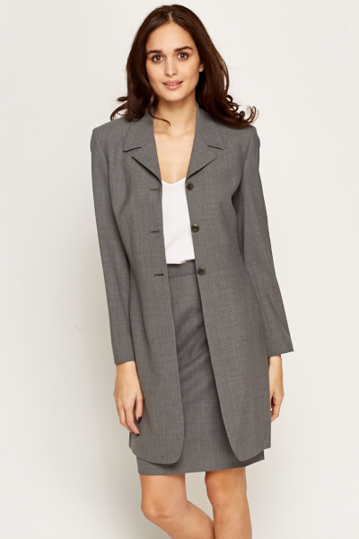 Grey Formal Suit Jacket