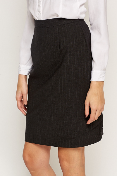 Pinstripe Formal Skirt