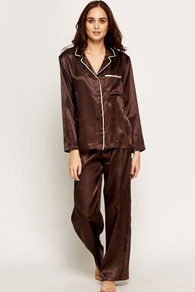 Silk Feel Pyjama Set