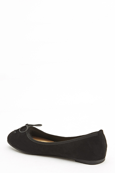 Black Suedette Pumps