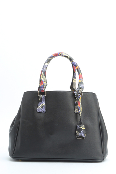 Contrast Handle Handbag