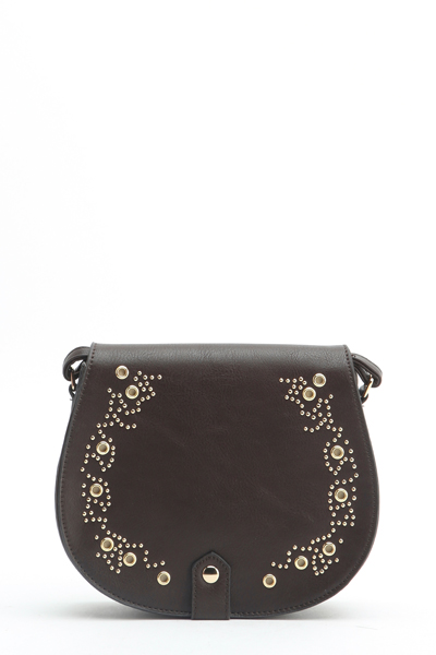 Studded Trim Crossbody Bag