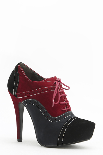 d6a8db15005f Suedette Contrast Lace Up Heels - Just £5