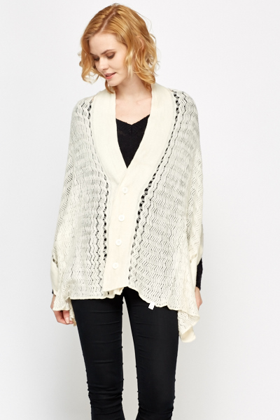 Button Up Detailed Poncho