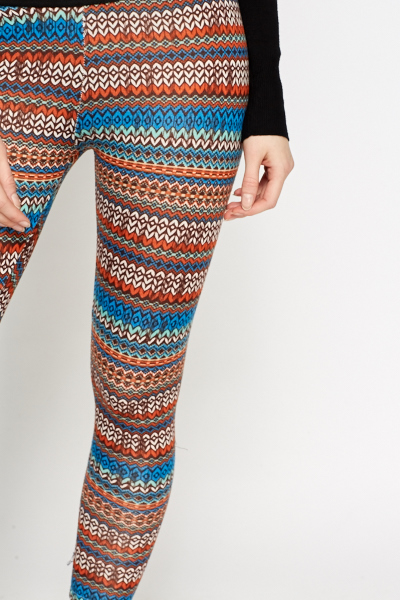 Contrast Printed Leggings