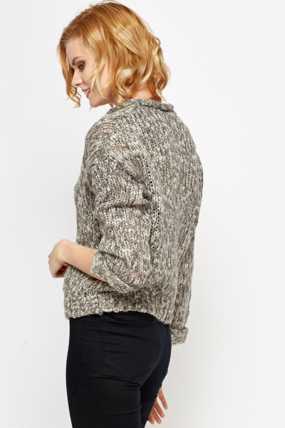 Loose Knit Pocket Front Jumper