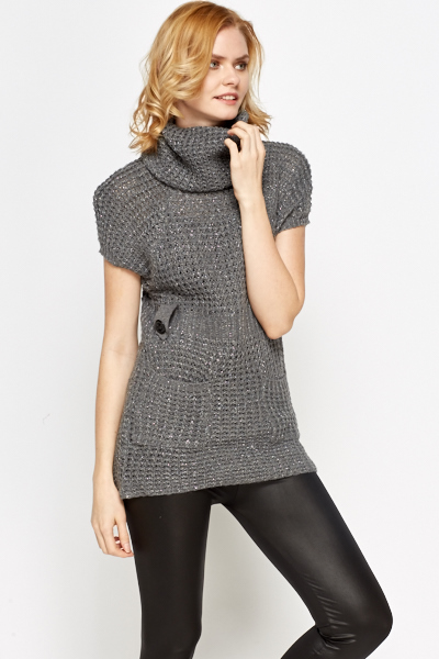 Metallic Roll Neck Jumper