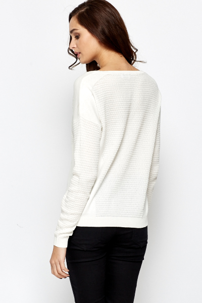 Cotton Blend textured Jumper