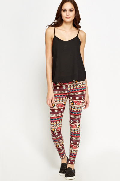 Striped Aztec Leggings