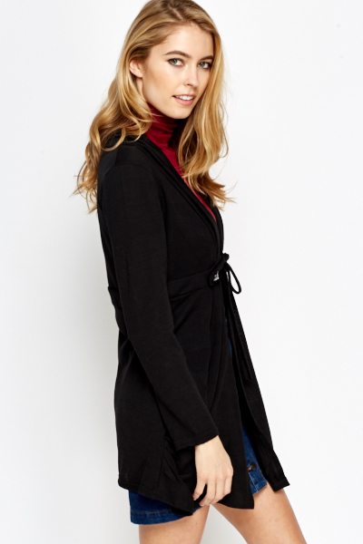 Black Tie Up Cardigan