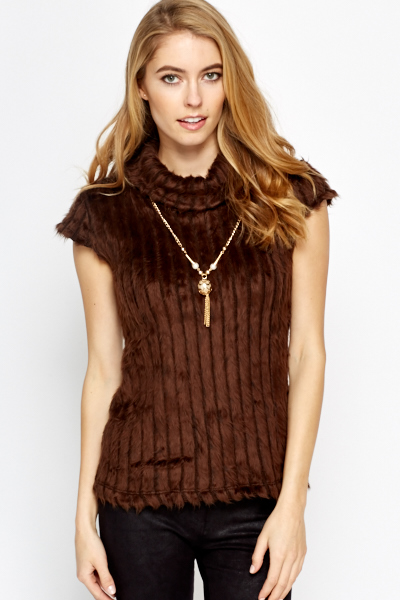 Faux Fur Knit Top