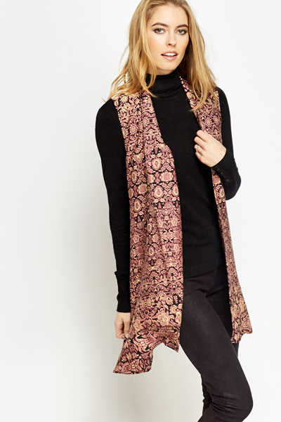 Sleeveless Ornate Open Cardigan