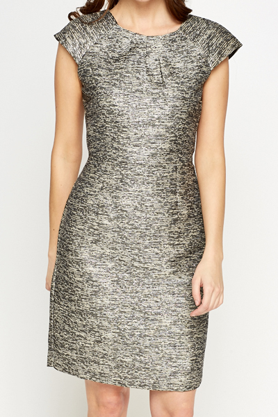 Cap Sleeve Silver Dress
