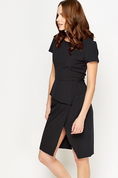 Slit Hem Asymmetric Dress
