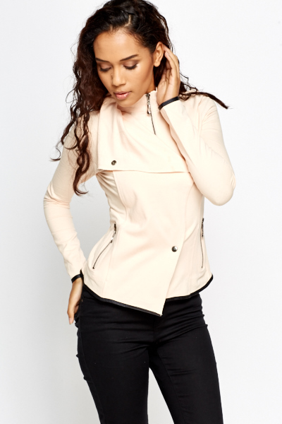 Cowl Neck Lightweight Jacket