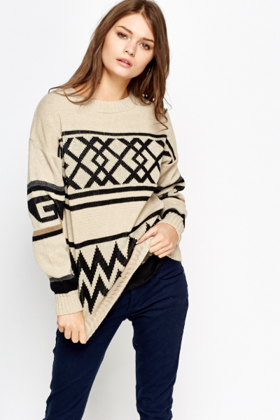 Geo Knit Jumper