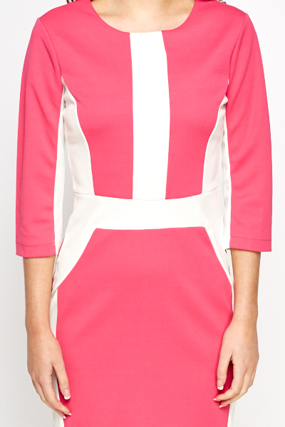Hot Pink Contrast Smart Dress