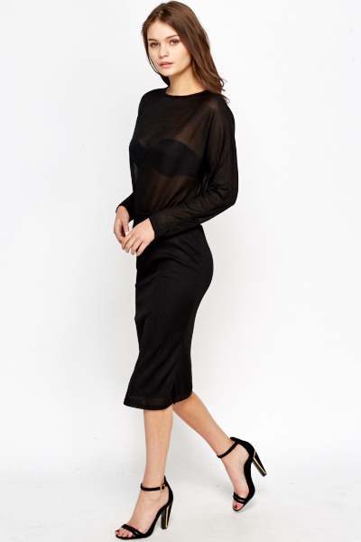 Keyhole Back Midi Dress