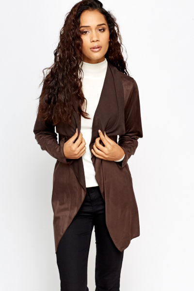 Waterfall Dark Chocolate Cardigan