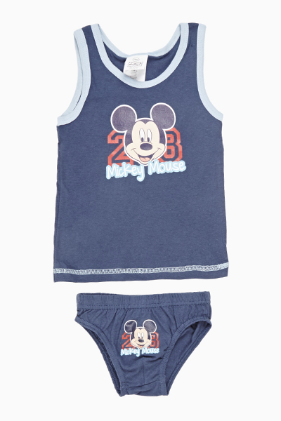 Navy Mickey Mouse Vest And Pants Set