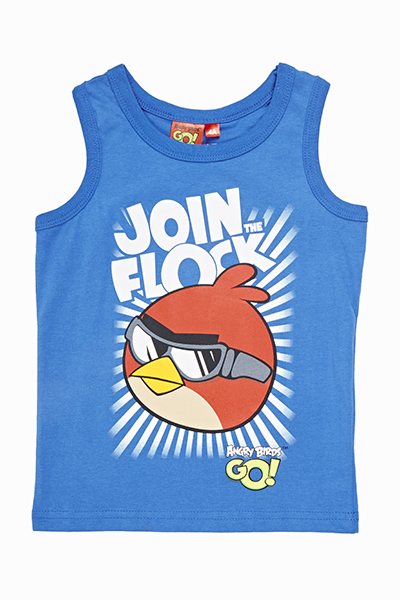 Royal Blue Angry Birds Vest Top