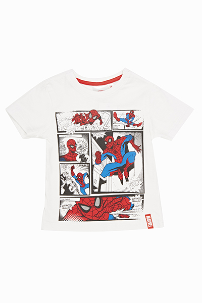 Spider Man Comic Print T-Shirt