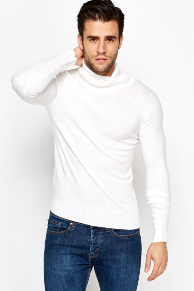 Casual Roll Neck Jumper