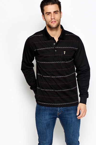 Collared Long Sleeve Top
