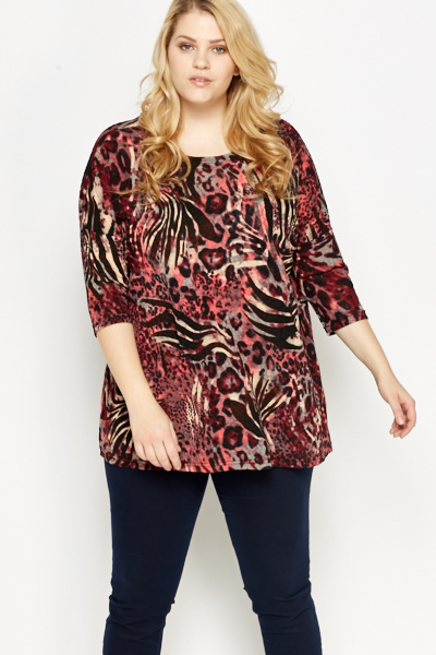 Mix Animal Print Tunic