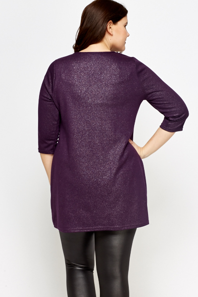 Purple Glitter Tunic