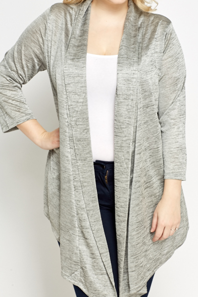 Speckled Silver Long Cardigan