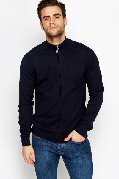 Zip Up High Neck Jumper