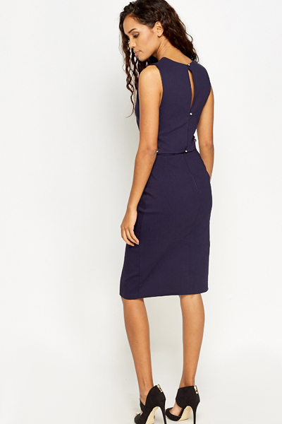Detachable Top Navy Dress