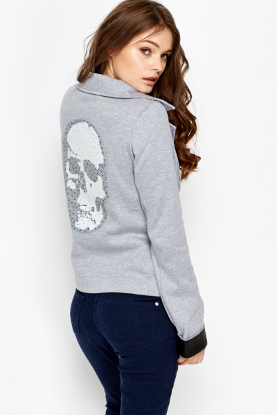 Encrusted Skull Back Blazer
