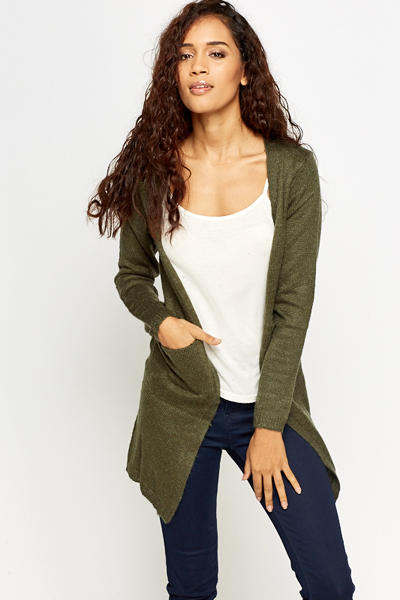 Knit Casual Pocket Side Cardigan